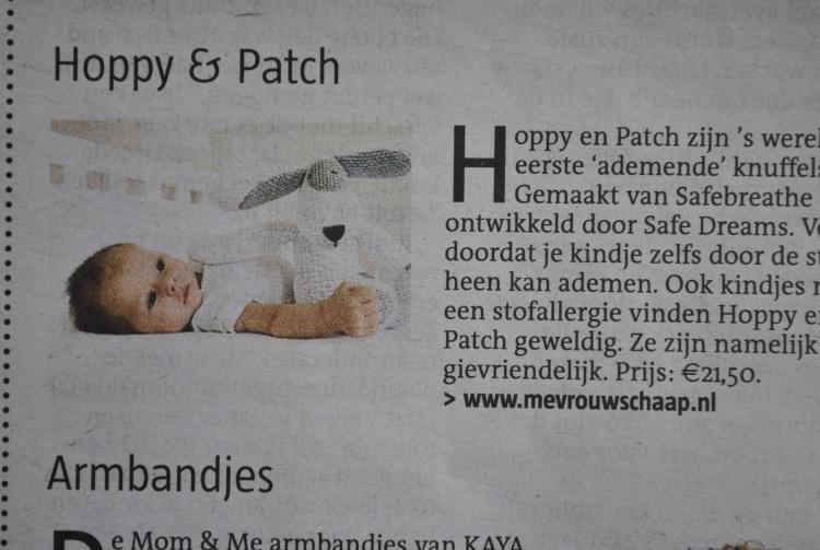 Hoppy & Patch ademende knuffels, originele kraamcadeaus